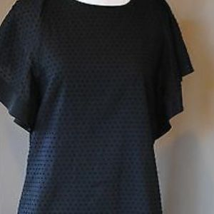 J Crews black cotton/silk black dress size 10